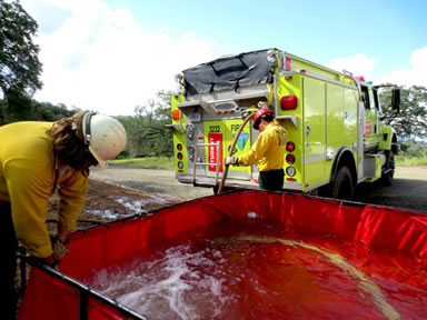 fire fighting open top tank