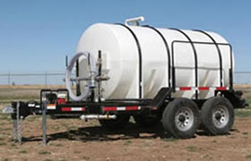 Express 1600 gallon Water Trailers are DOT compliant for road use