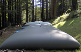 water storage bladder pillow tanks